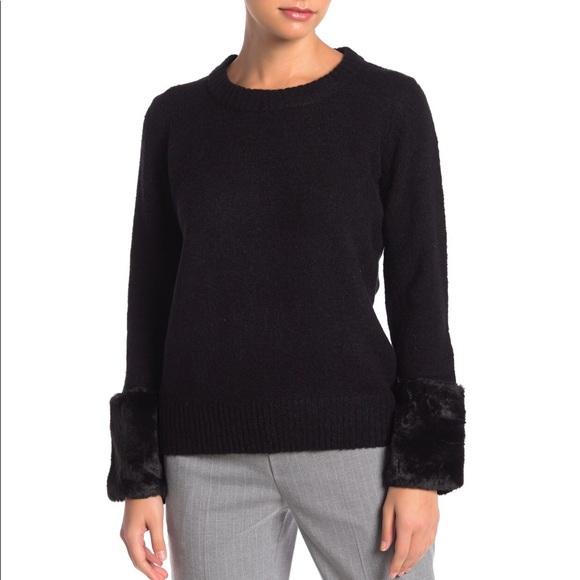 Catherine Catherine Malandrino Faux Fur Sweater XL